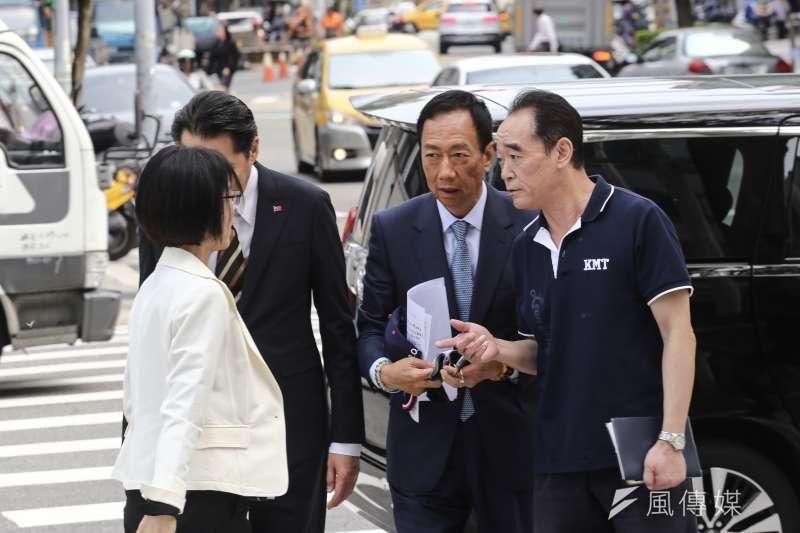 鴻海董事長郭台銘15日表示,如果當選將推內閣制。(資料照片,陳品佑攝)