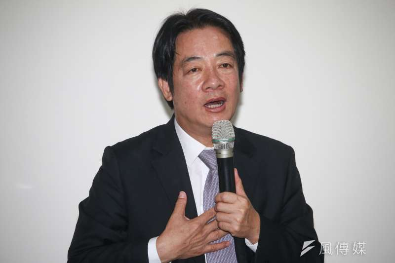 前行政院長賴清德回應高雄市長韓國瑜表示如果當選總統、將留在高雄等問題。(資料照片,蔡親傑攝)