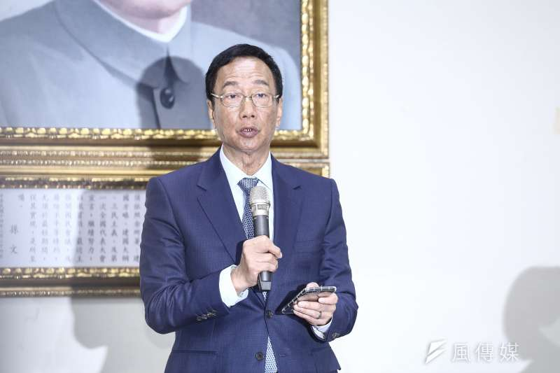 鴻海董事長郭台銘否認國外碩士月薪僅38K。(資料照,陳品佑攝)