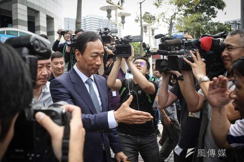 鴻海董事長郭台銘(見圖)認為,台灣經濟轉型須要慎謀能斷,前行政院長賴清德「優柔寡斷」,並不適合當領導人。(資料照,陳品佑攝)