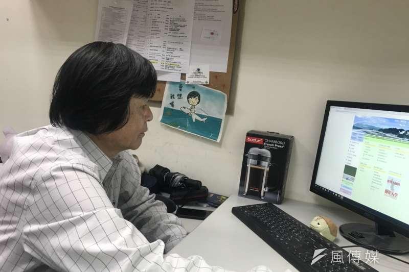 20190514 upload-羿雯專題-台灣研究海龜逾25年的海洋大學海洋生物研究所教授程一駿。(廖羿雯攝)