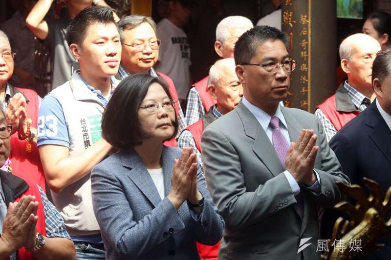 針對台北市長柯文哲日前表示,總統蔡英文是「挑釁者」一事。蔡英文16日表示,是一個不公平的說法。(資料照,蘇仲泓攝)