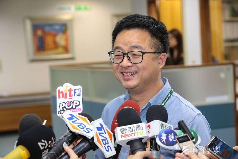 20190515-民進黨秘書長羅文嘉15日出席民進黨中常會。(顏麟宇攝)