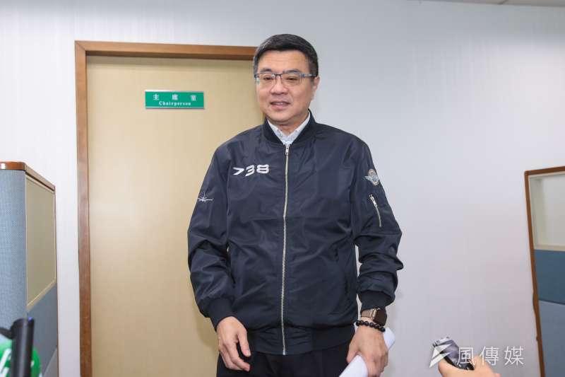 20190515-民進黨主席卓榮泰15日出席民進黨中常會。(顏麟宇攝)