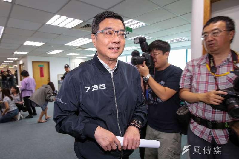 民進黨主席卓榮泰為英德頻頻交火左右為難。(資料照片,顏麟宇攝)