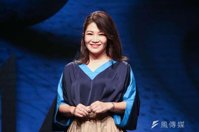 20190515-第30屆金曲獎入圍名單公布記者會,圖為揭獎嘉賓黃妃。(蔡親傑攝)