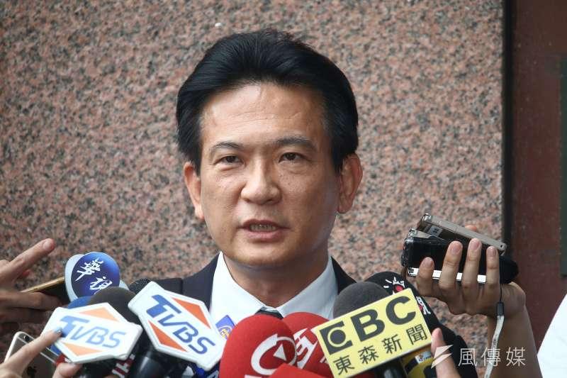 20190515-立委林俊憲15日出席民進黨蔡賴協調會。(蔡親傑攝)
