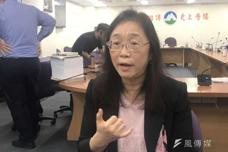 20190515_行政院原能會核能管制處處長張欣。(廖羿雯攝)