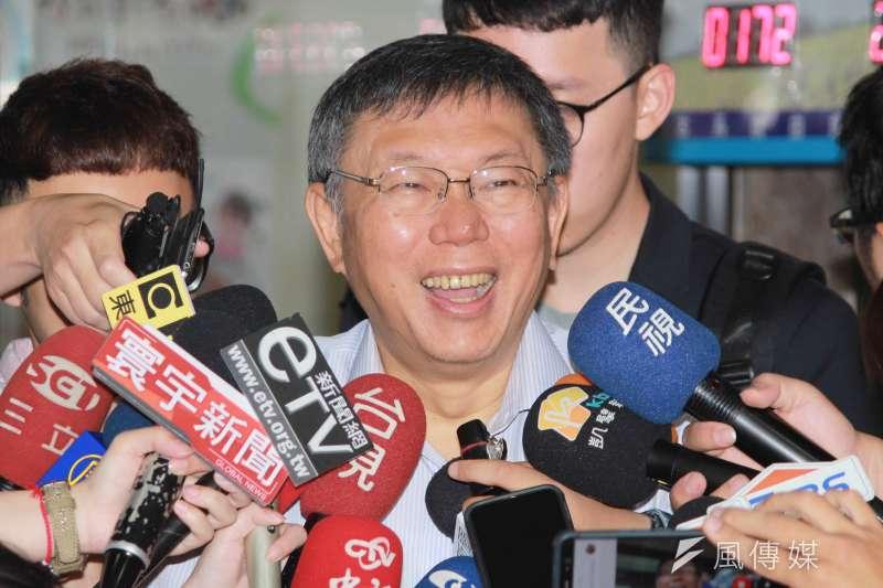 是否參選2020?台北市長柯文哲(見圖)受訪表示,「生而不有,為而不恃」。(資料照,方炳超攝)
