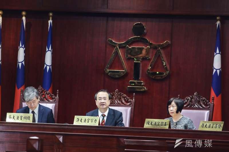 司法院長許宗力主持公教年改釋憲案。(簡必丞攝)