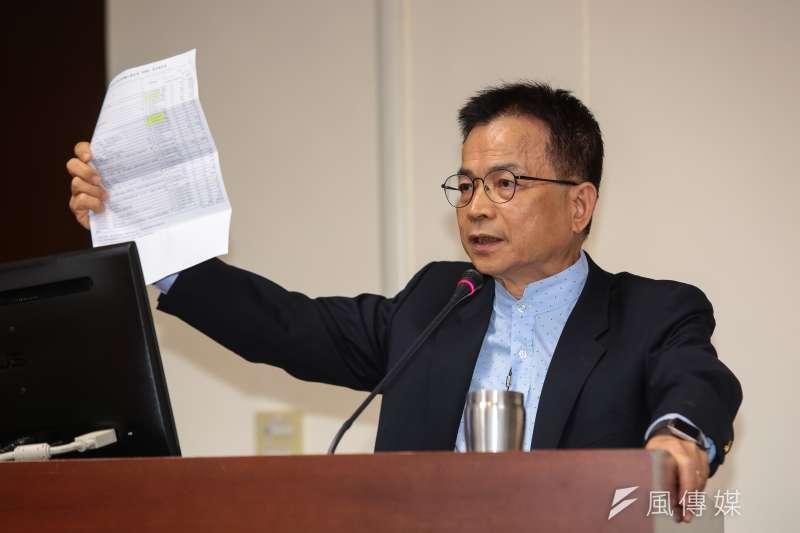 20190515-國民黨立委賴士葆15日於立院經濟委員會質詢。(顏麟宇攝)