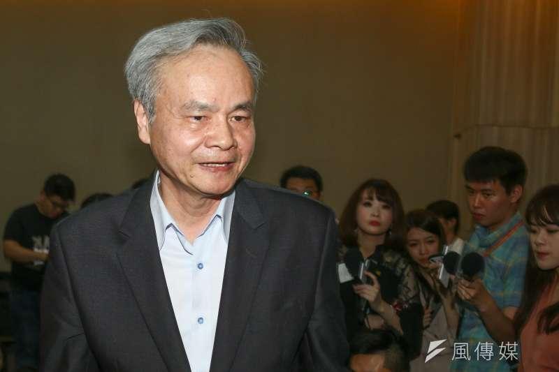 20190516-中華郵政總經理陳憲着16日召開記者會說明原委。(蔡親傑攝)