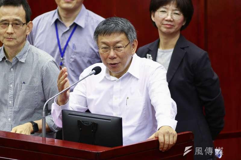 20190516-台北市長柯文哲16日至市議會接受議員質詢。(蔡親傑攝)