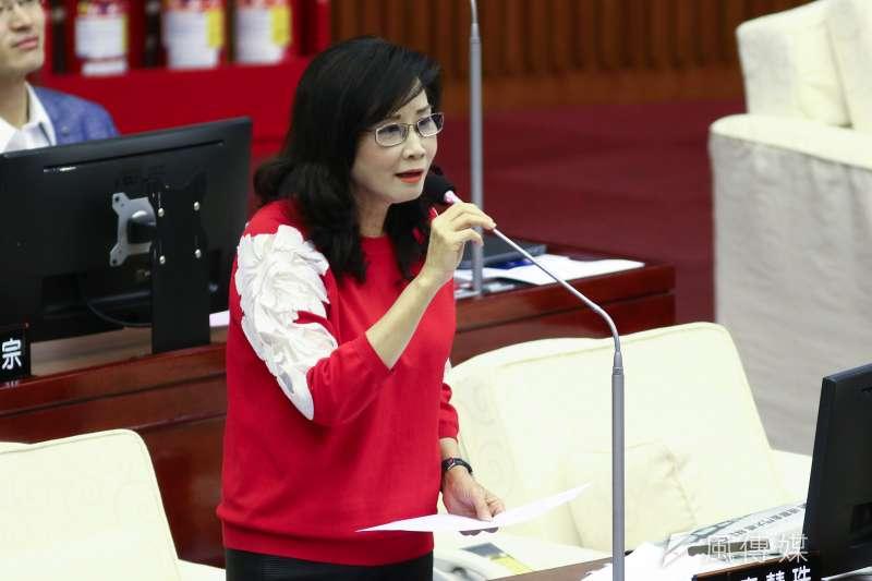 20190516-北市議員秦慧珠16日至市議會作議會質詢。(蔡親傑攝)