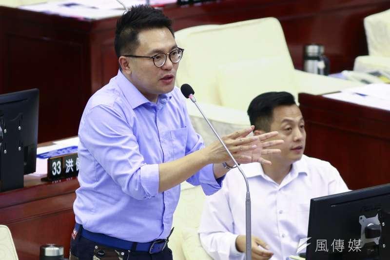 20190516-北市議員張斯綱16日至市議會作議會質詢。(蔡親傑攝)