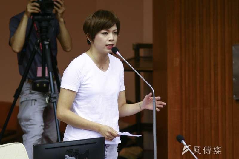20190516-北市議員鍾沛君16日至市議會作議會質詢。(蔡親傑攝)