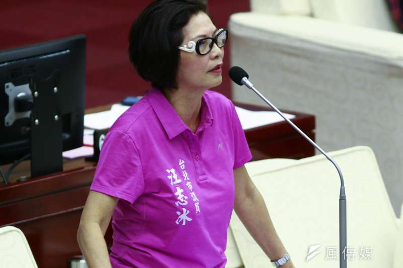 20190516-北市議員汪志冰16日至市議會作議會質詢。(蔡親傑攝)