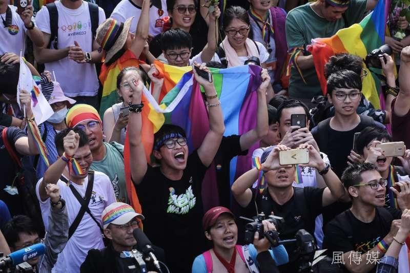 立法院17日三讀通過同婚專法,24日同性結婚登記開跑。示意圖。(資料照,陳品佑攝)