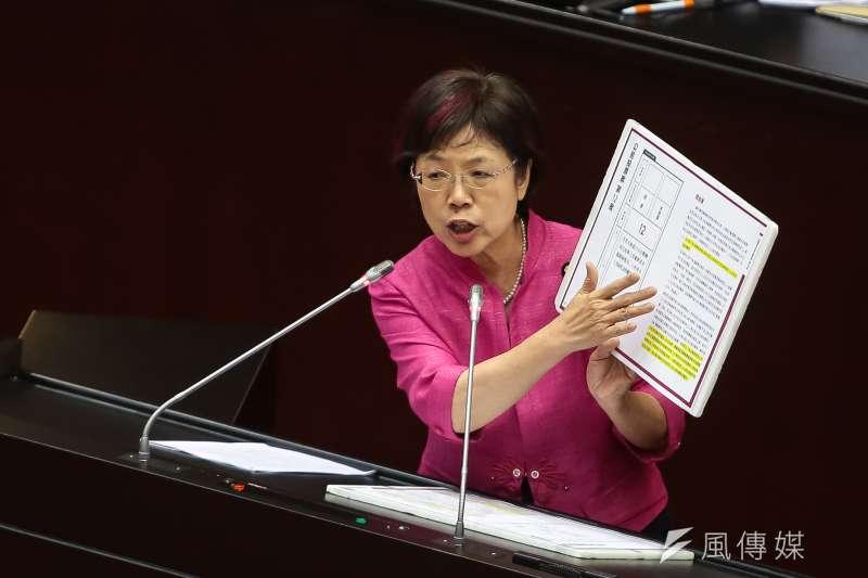 20190517-民進黨立委尤美女17日於院會發言。(顏麟宇攝)