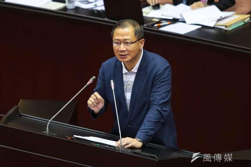 20190517-國民黨立委吳志揚17日於院會發言。(顏麟宇攝)
