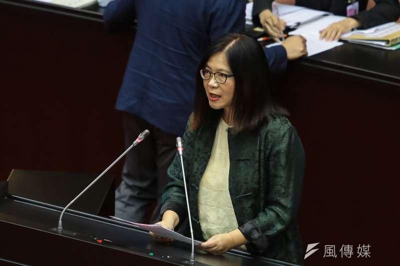 20190517-民進黨立委管碧玲17日於院會發言。(顏麟宇攝)