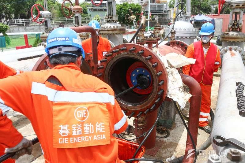 20190517-中油煉油廠輸油管維護作業。(蔡親傑攝)