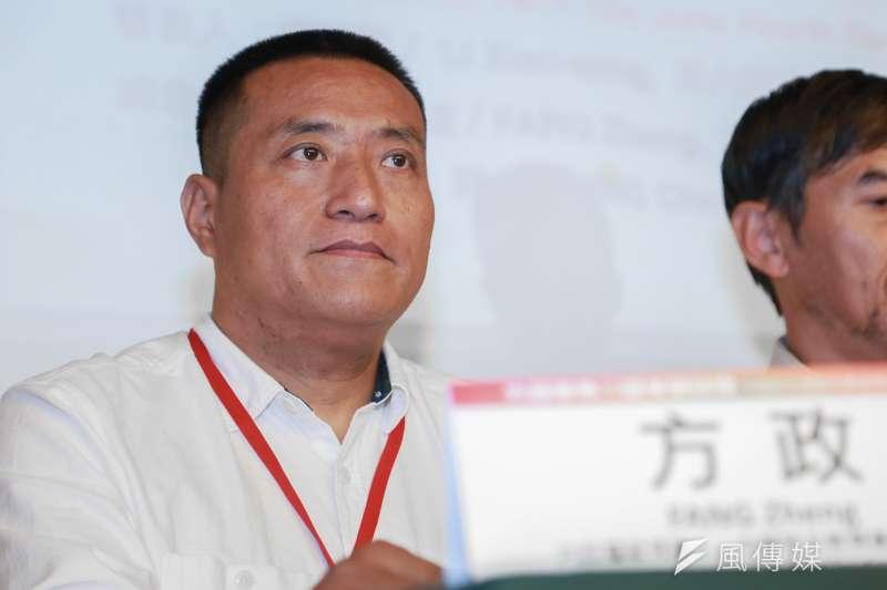 中國民主教育基金會,六四屠殺見證人方政18日出席六四事件30週年研討會。(簡必丞攝)