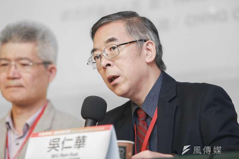 六四屠殺見證人及研究者吳仁華18日出席六四事件30週年研討會。(簡必丞攝)