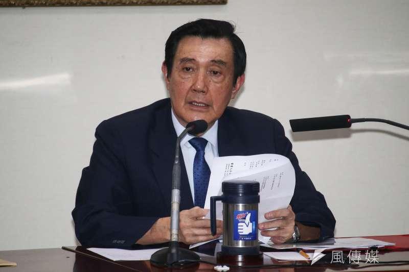 20190519-前總統馬英九(圖中)與前副總統吳敦義對管制期延長一事召開記者會。(蔡親傑攝)