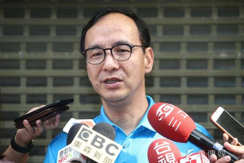 對於韓國瑜凱道6/1造勢,前新北市長朱立倫(見圖)今說,他覺得有點勞民傷財,現在只是黨內總統初選,應回歸政策討論。(資料照,蔡親傑攝)