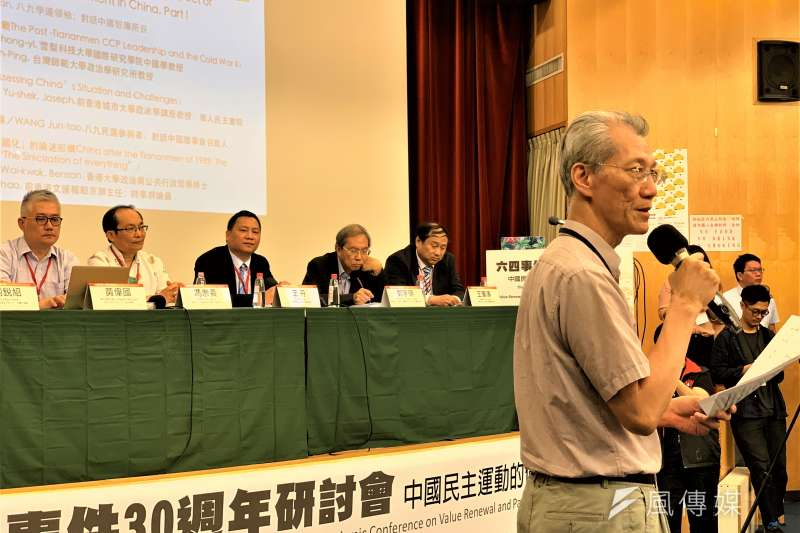 六四30周年:台灣大學政治學教授、研究中共權威明居正(簡恒宇攝)