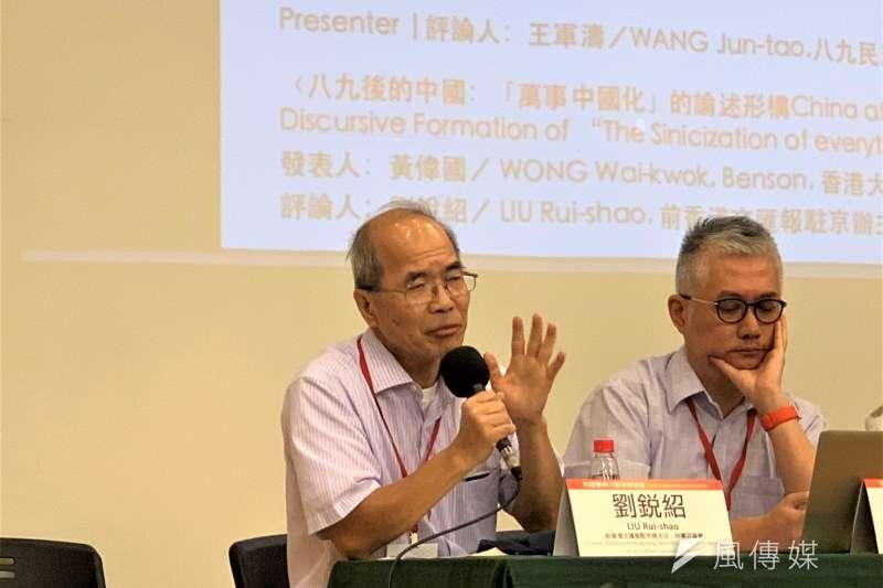 六四30周年:香港《文匯報》前駐北京記者劉銳紹(簡恒宇攝)