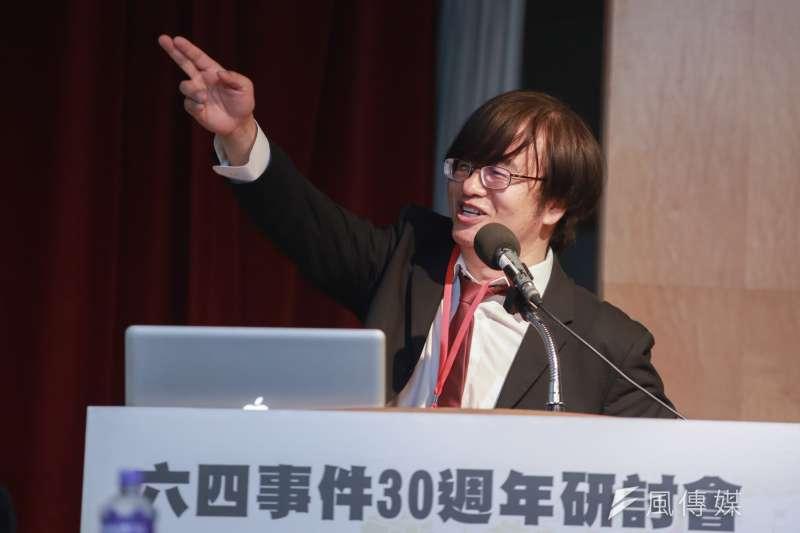 20190519-八九學院領袖邵江19日出席六四30週年研討會。(簡必丞攝)