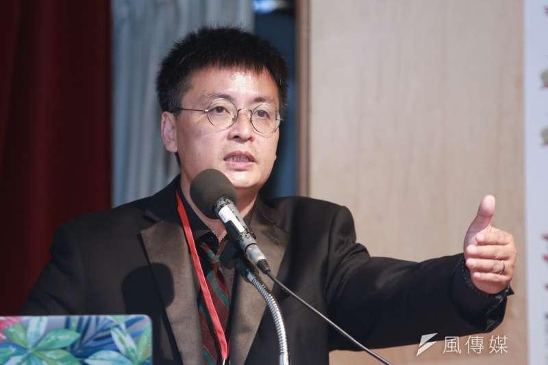 八九學運領袖封從德5月19日在台灣出席六四30週年研討會。(簡必丞攝)