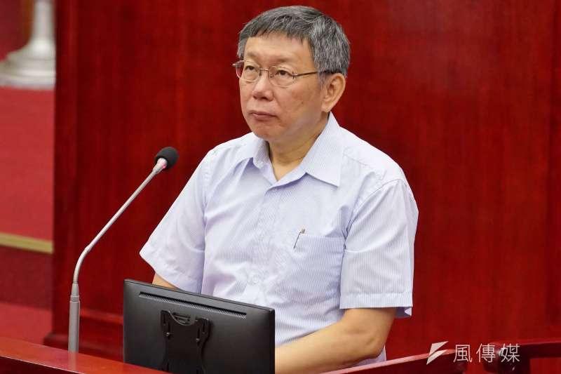 20190502-台北市長柯文哲赴市議會專案報告。(盧逸峰攝)