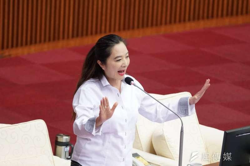 20190520-台北市議員應曉薇質詢。(盧逸峰攝)