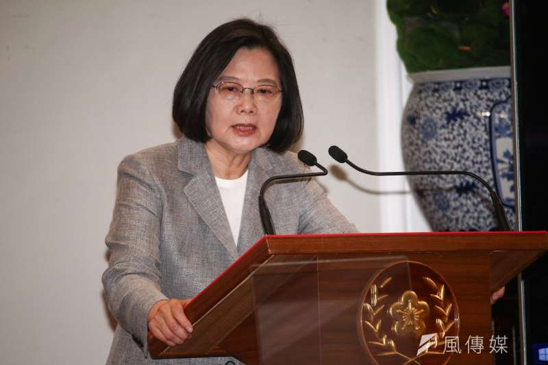 20190520-總統蔡英文主持「三年有成台灣進步關鍵字」記者會。(蔡親傑攝)