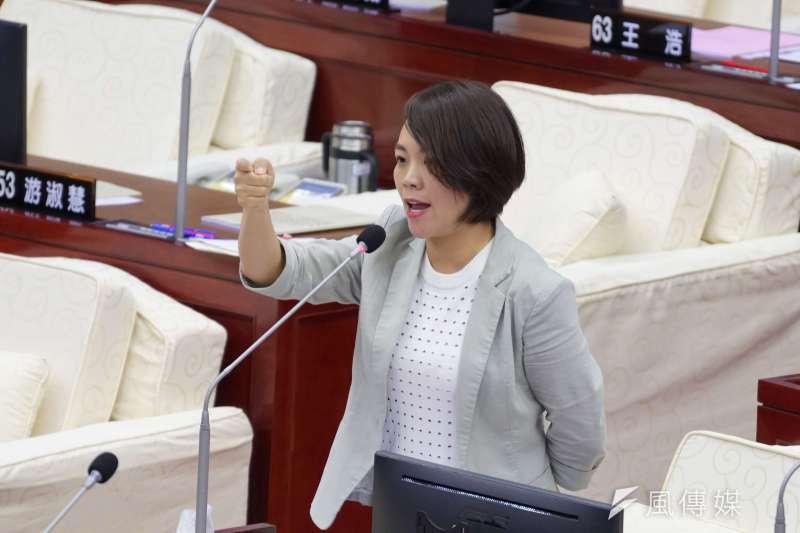 20190520-台北市議員簡舒培質詢。(盧逸峰攝)