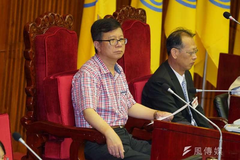 台北市新黨議員潘懷宗(見圖)涉嫌詐領公費助理薪資12年至少300萬。(資料照,盧逸峰攝)