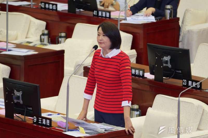 20190520-台北市議員王鴻薇質詢。(盧逸峰攝)