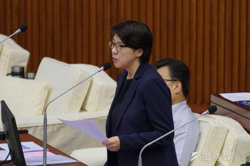20190520-台北市議員黃珊珊質詢。(盧逸峰攝)
