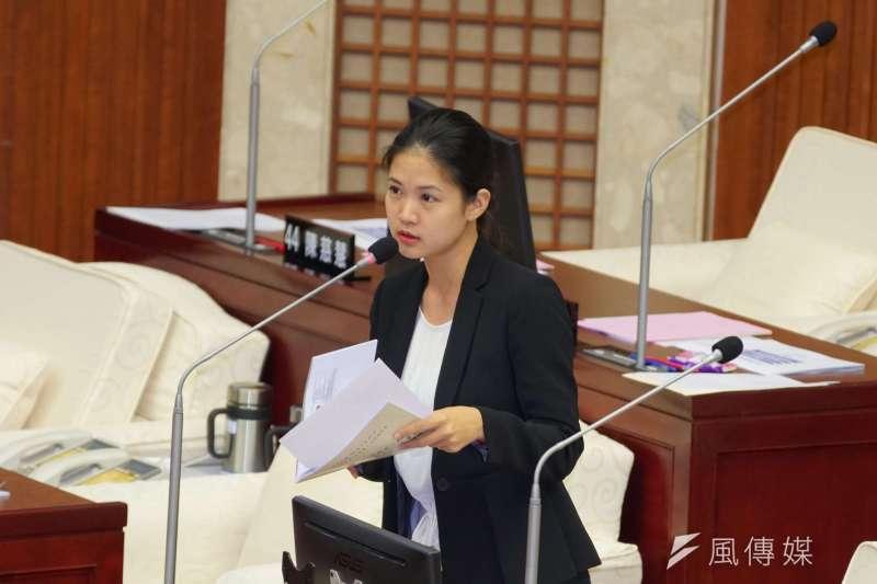 台北市議會本會期進入預算會期,時代力量台北市議員林亮君(見圖)近期查閱預算時發現,新年度預算在各局處中,僅資訊局沒有列出政風預算。(資料照,盧逸峰攝)