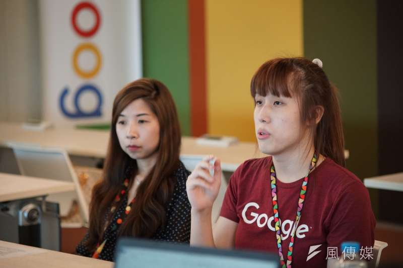20190521-Google同志員工議題專訪,軟體工程師Jasmine(圖右)受訪。(盧逸峰攝)