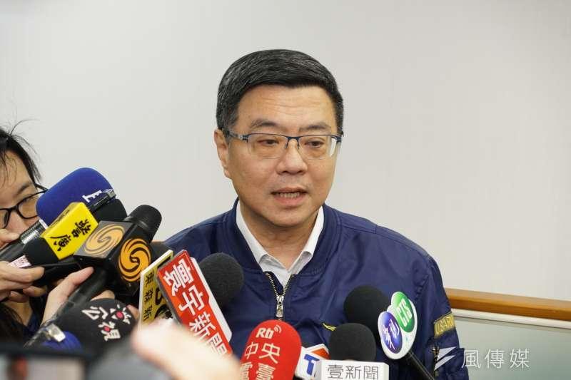20190522-民進黨中執會,黨主席卓榮泰受訪。(盧逸峰攝)