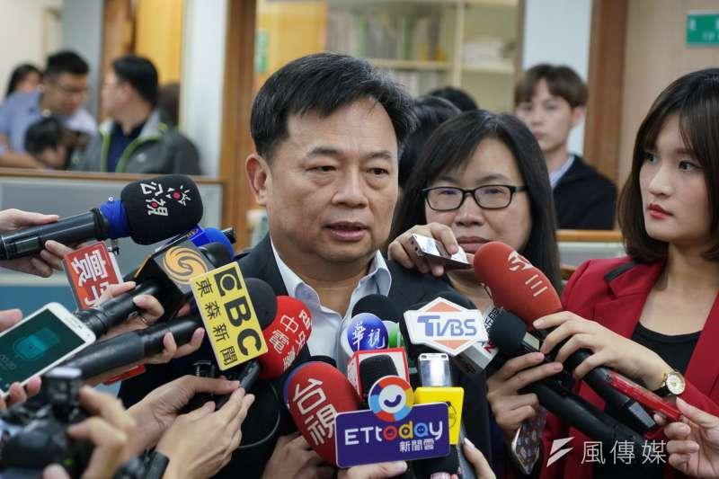 20190522-民進黨中執會,英派代表林錫耀受訪。(盧逸峰攝)