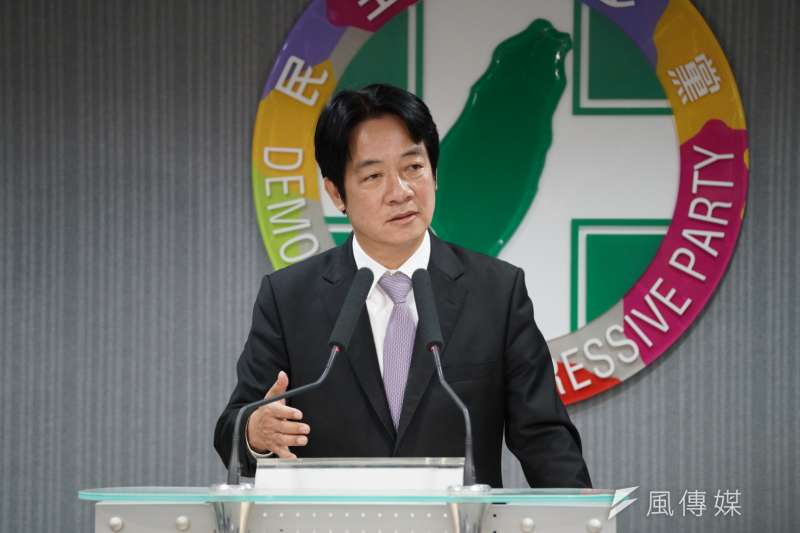 20190522-民進黨中執會後,前行政院長賴清德受訪。(盧逸峰攝)