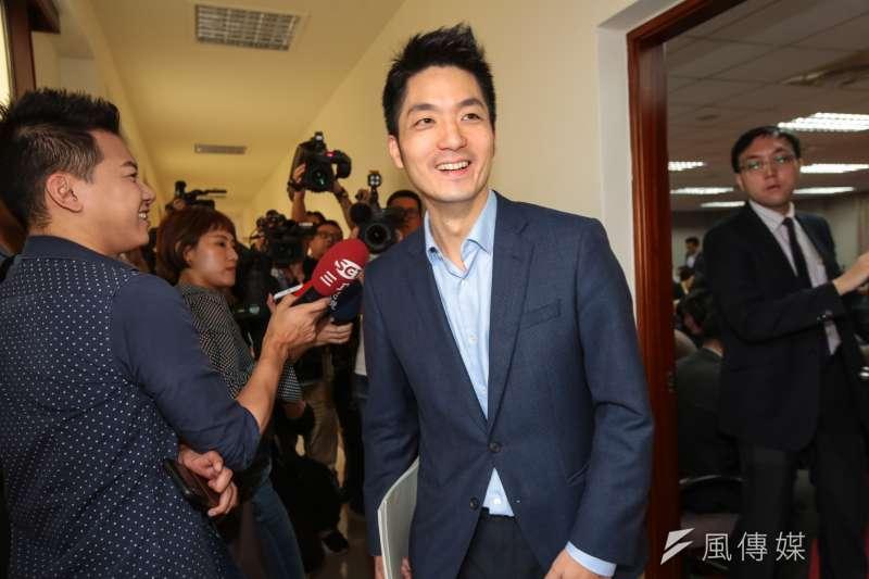 國民黨立委蔣萬安(見圖)受訪表示,對手吳怡農很帥。(資料照,顏麟宇攝)