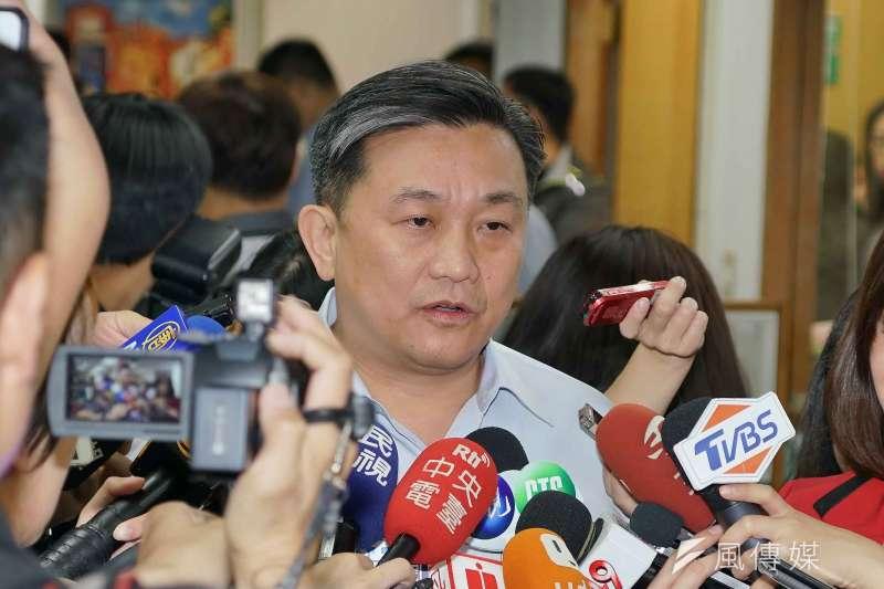 民進黨立委王定宇(見圖)認為,如果按照國民黨總統參選人韓國瑜「不要台獨選票」的說法,那麼有4種人,應該把票投給韓。(資料照,盧逸峰攝)