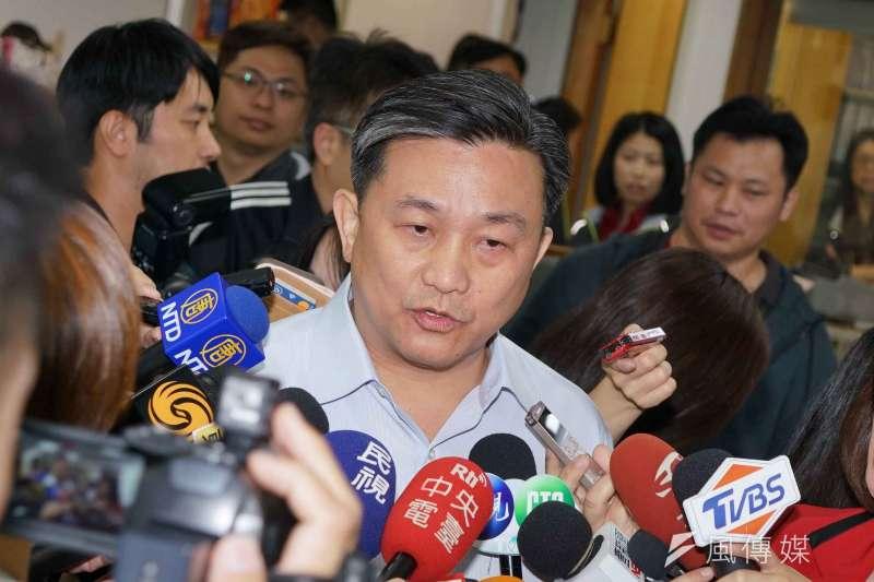 20190522-民進黨中執會,立委王定宇受訪。(盧逸峰攝)