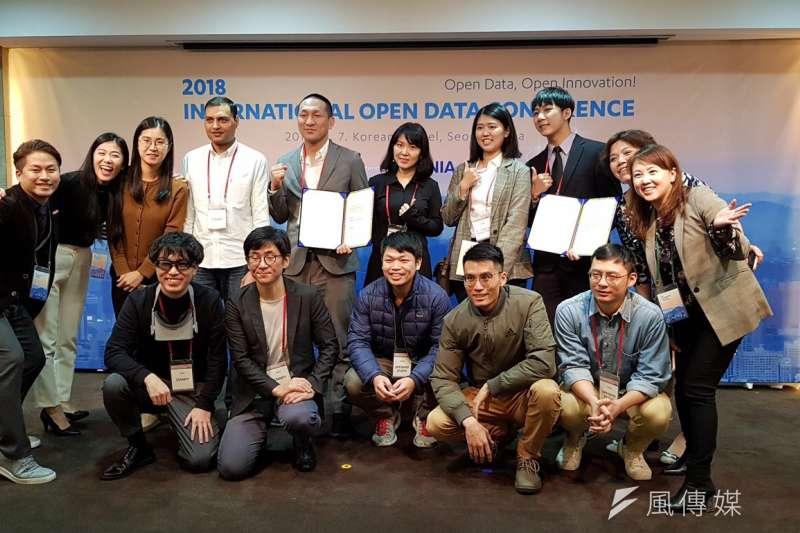 「2018亞洲跨國黑客松」獲最佳黑客獎。(圖/徐炳文攝)